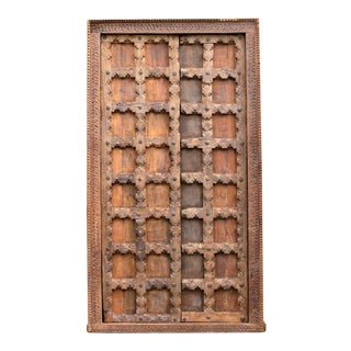 19th Century Moorish Haveli Teak Door For Sale