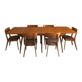 Heywood-Wakefield Wishbone Dining Table & Chairs Set
