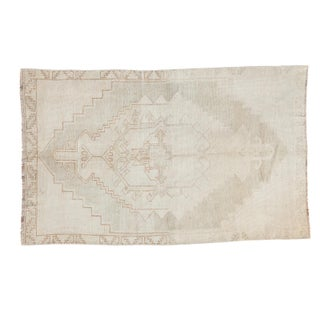 """Distressed Oushak Rug - 3'1"""" X 5' For Sale"""