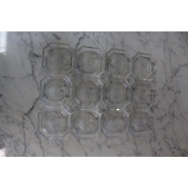 Crystal Vintage Mid-Century Crystal Salts - Set of 12 For Sale - Image 7 of 7