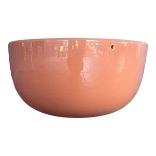 Mid-Century Orange Hanging Gainey Planter For Sale
