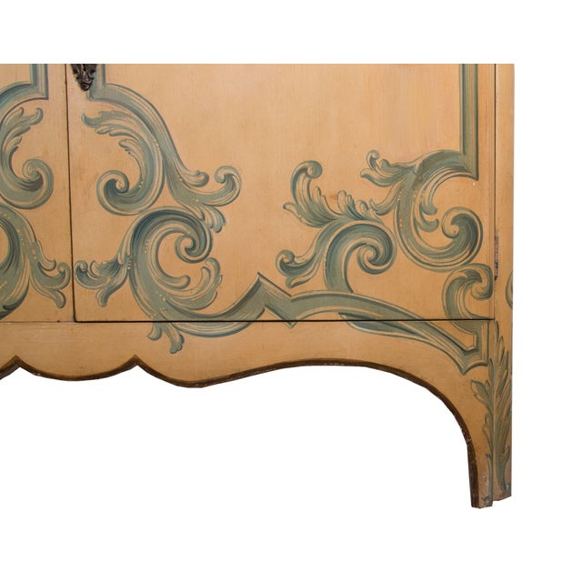 Painted Italian Cabinet with Glazed Doors - Image 6 of 6