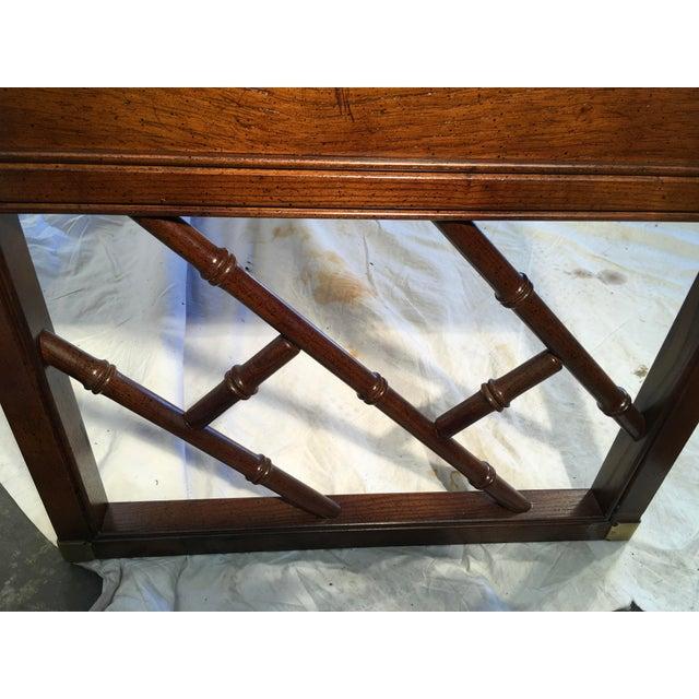 Gold Sligh Furniture Campaign Style Desk For Sale - Image 8 of 9