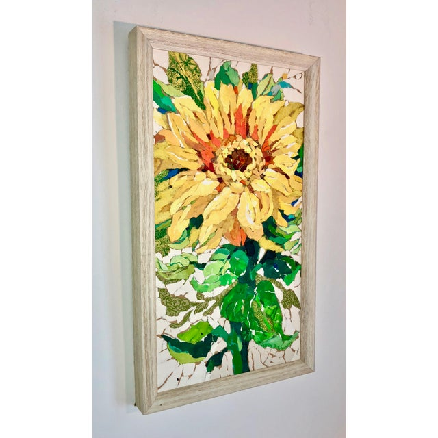 Contemporary Sunflower II Contemporary Collage Painting For Sale - Image 3 of 7
