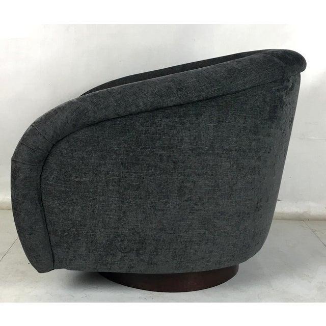 Milo Baughman Milo Baughman Roll Arm Swivel Lounge Chairs - a Pair For Sale - Image 4 of 10