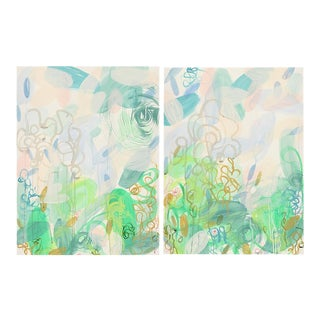 "Alex K. Mason ""Mother Nature's Work Diptych"" Paintings - a Pair For Sale"