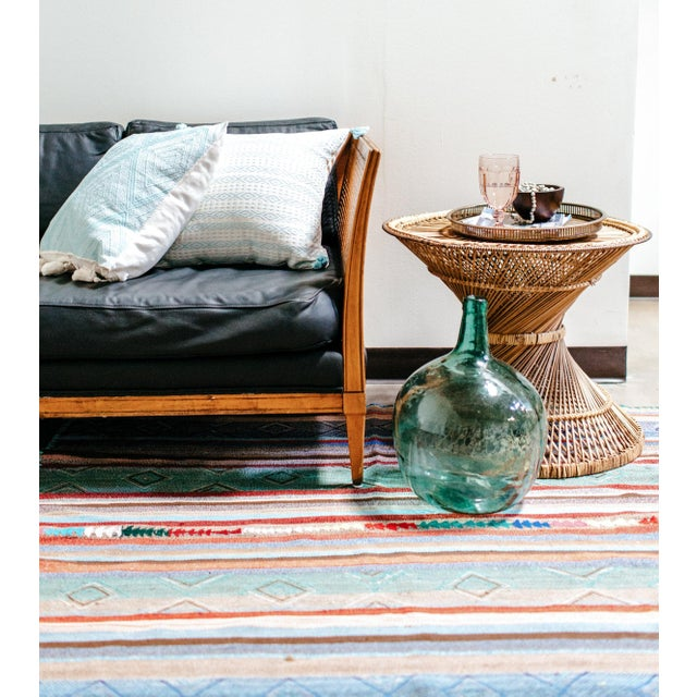 Mexican Serenity Blue Handwoven Pillow - Image 4 of 7