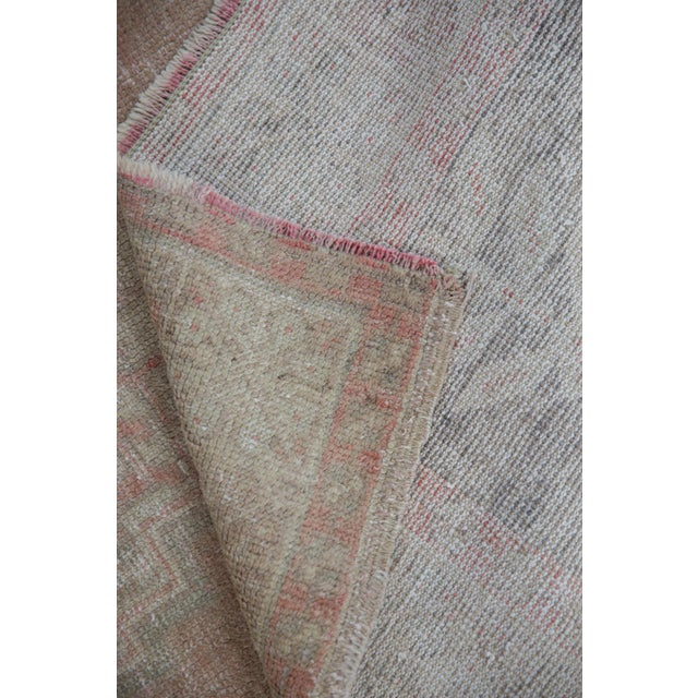 """Distressed Oushak Rug - 3'7"""" X 6'3"""" For Sale - Image 4 of 11"""