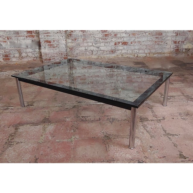 Le Corbusier for Cassina Vintage Rectangular Glass Top Coffee Table For Sale - Image 10 of 10