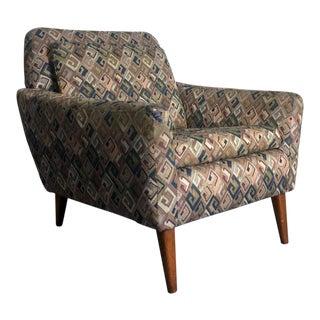 Vintage Mid-Century Danish Modern Folke Ohlsson Dux Teak Derby Lounge Chair