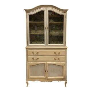 20th Century French Walnut Cabinet With Decoupage Interior For Sale