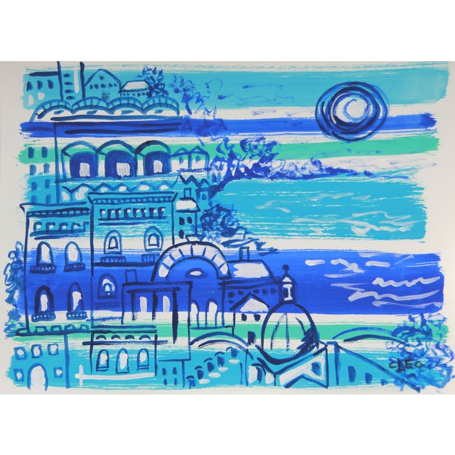 Mediterranean #4 Abstract Painting by Cleo - Image 1 of 2