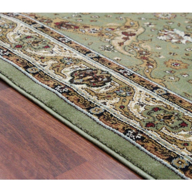 Persian Traditional Green Rug - 8′ × 11′ - Image 5 of 6