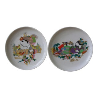 for Rosenthal Bjorn Wiinblad Plates - A Pair