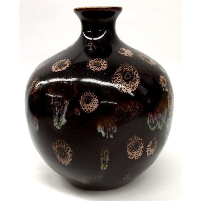 Drip Glaze Black Porcelain Bud Vase - Image 9 of 10