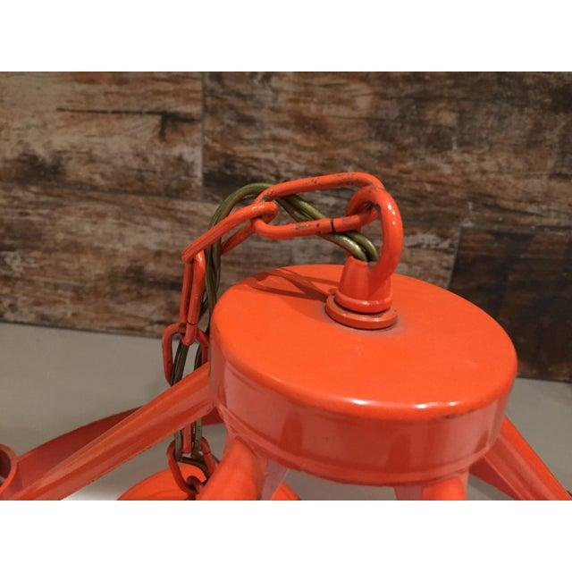 Vintage Mid Century Orange Chandelier - Image 3 of 9
