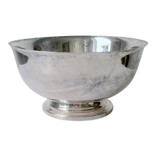 "American Silver ""Revere"" Centerpiece or Serving Bowl For Sale"