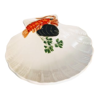Tre Art Italy Shell Dish Shrimp With Oyster For Sale