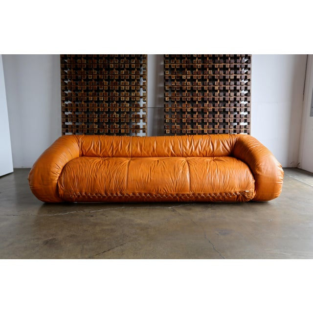 """""""Anfibio"""" sofa designed by Alessandro Becchi for Giovannetti, circa 1970. This piece converts into a bed."""