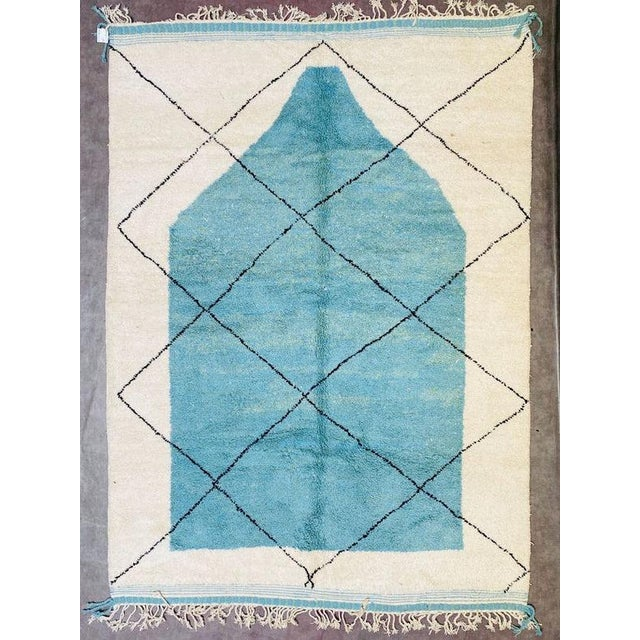 1990s Moroccan Beni Ourain Rug-8′3″ × 11′4″ For Sale - Image 11 of 11