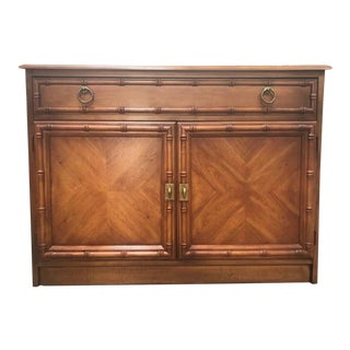 Chinoiserie Rolling Buffet Dry Bar For Sale