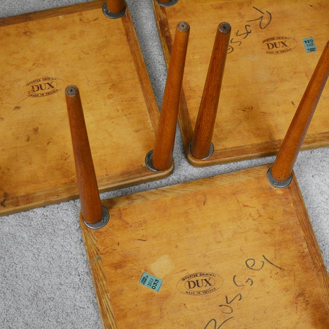 Dux of Sweden 1960s Teak Coffee Table With Three Nesting Tables - 4 Pieces For Sale - Image 10 of 13