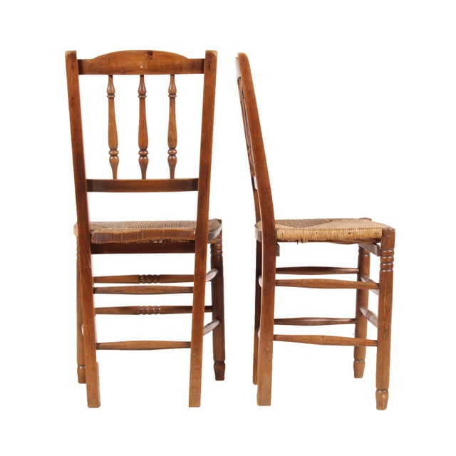 Country French 1940s Rush Chairs - Set of 4 - Image 3 of 9
