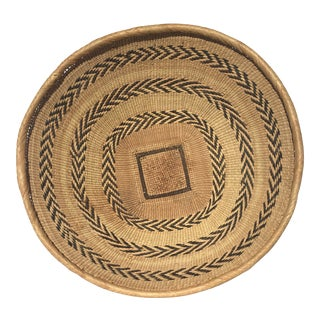 Late 20th Century Handwoven Basket For Sale