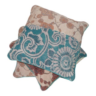 Anthropologie Boho Chic Floor Cushions - Set of 3 For Sale