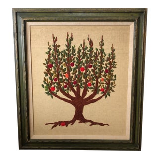 Large Vintage Needlepoint Art For Sale