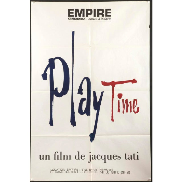"""1967 French Jacques Tati """"Play Time"""" Film Poster - Image 3 of 3"""