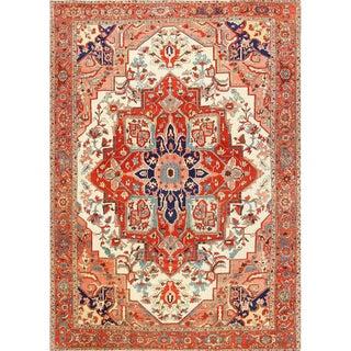 Large Antique Oriental Persian Serapi Rug - 11′ × 15′6″ For Sale