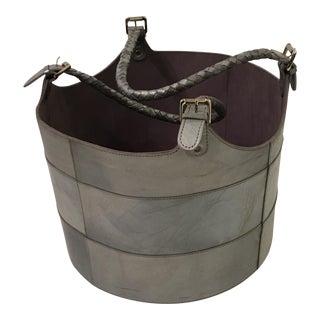 Gray Leather Bucket