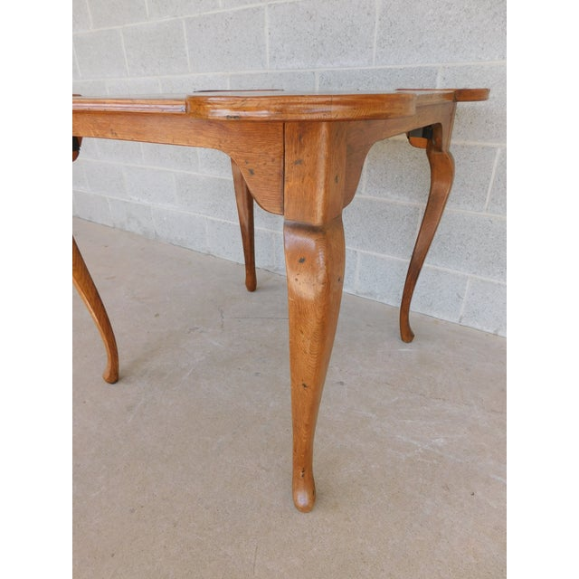French Provincial Louis XV Style Parquet Top Game Table For Sale In Philadelphia - Image 6 of 8