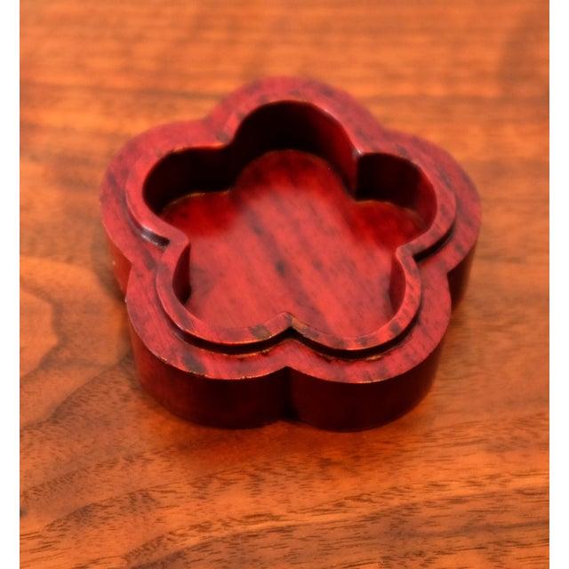 1960s Vintage Hand Carved Floral Wooden Box For Sale - Image 5 of 6