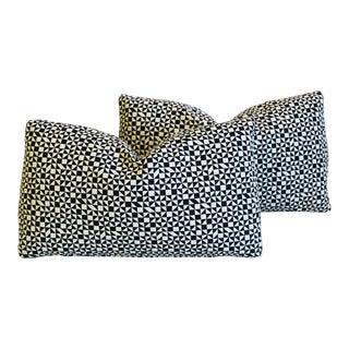 """Designer Midcentury Alexander Girard Abstract Feather/Down Pillows 21"""" X 13"""" - Pair For Sale"""