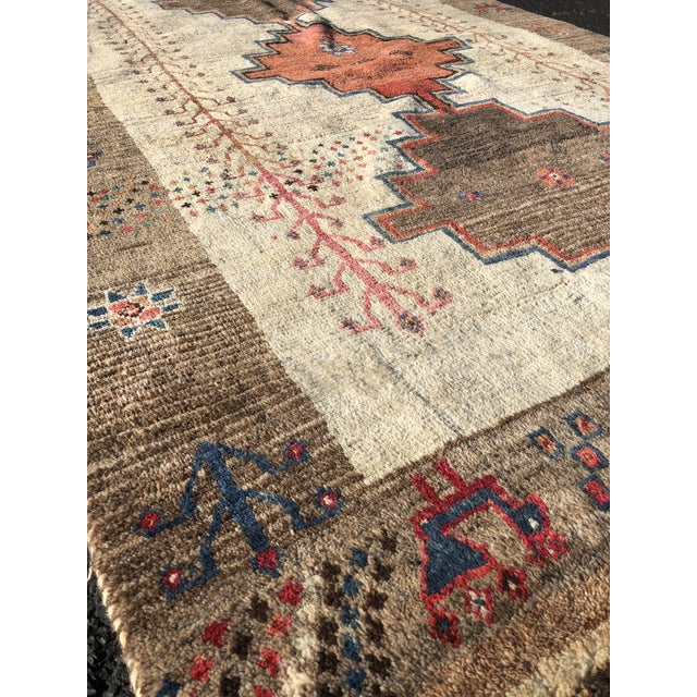 1970s Vintage Persian Gabbeh Rug - 4′9″ × 8′3″ For Sale - Image 4 of 13