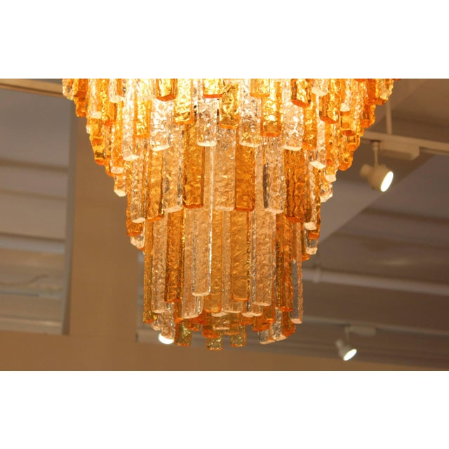 Mid-Century Modern Large 1960s Venini Chandelier For Sale - Image 3 of 10