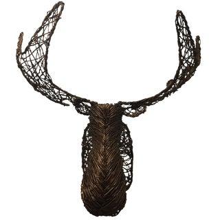 Grapevine Wicker Moose Head For Sale