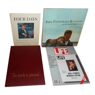 John F. Kennedy Books & Life Magazine - Set of 4 -- Early 1960's