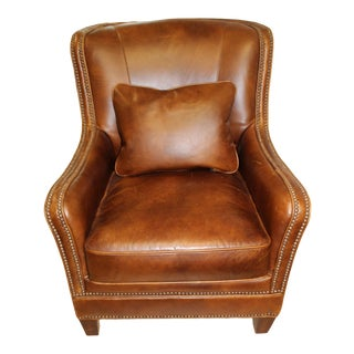 Maitland-Smith Leather Club Chair For Sale