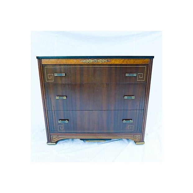 French Art Deco Style Apartment Size Dresser - Image 6 of 9