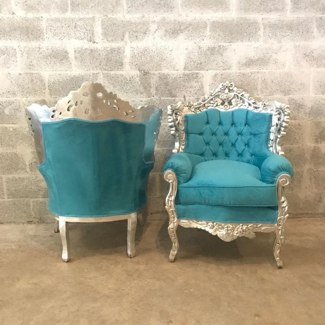 Italian Baroque Chairs - A Pair For Sale - Image 5 of 6