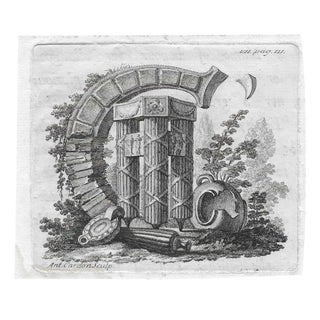 19th Century Engraving of the Monogram C For Sale