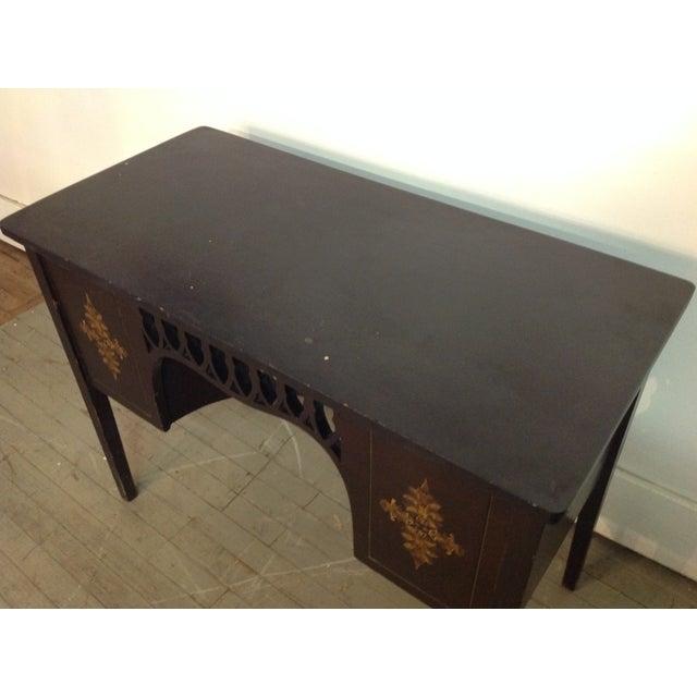 1924 Ebony Windsor Sewing Table - Image 4 of 9
