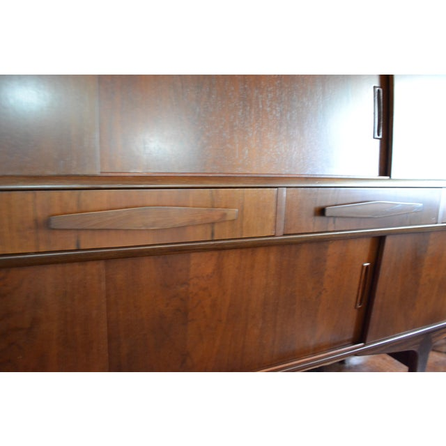 Danish Modern Rosewood Sideboard by Poul M. Jessen for PMJ Viby. Stamped on back. Stunning grain. Lots of storage options....