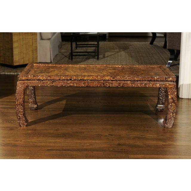 Exquisite Mosaic Lacquered Coffee Table in the Style of Enrique Garcel For Sale - Image 9 of 11