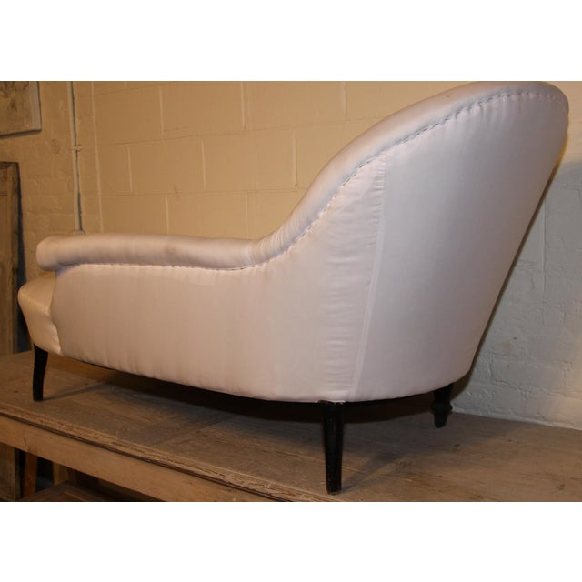 Napoleon III French Chaise Lounge For Sale - Image 4 of 6