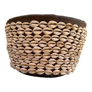 Vintage African Shell Basket For Sale