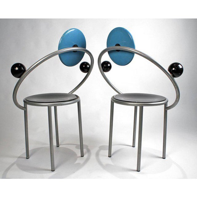 1980s 'First Chairs' by Memphis Milano Designer Michele De Lucchi - A Pair For Sale In Dallas - Image 6 of 9